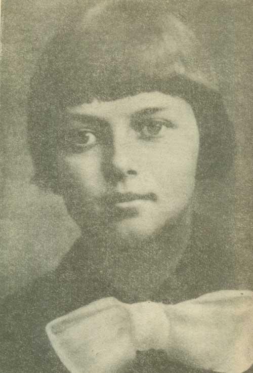 1926 Зинаида Мартыновна Портнова (Зина Портнова) юная партизанка