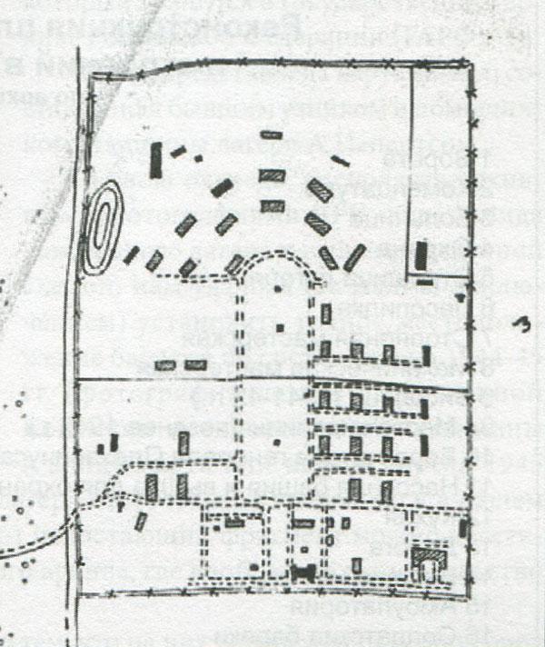 Схема лагеря в Саласпилсе,