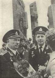 Эстафета поколений - эстафета подвига (крайний слева - В.И. Левашов)